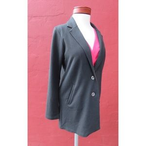 Lilla P French Terry Blazer Cardigan Long Jacket